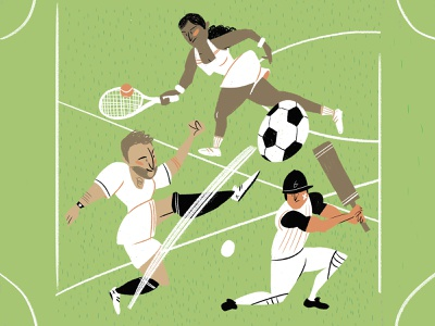 Game on playing jogo characters design desporto sports branding ux game digital book illustration sports