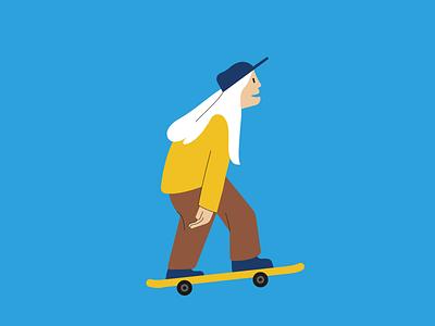 Skater - human pattern sport illustration vector flat pattern contest porto andante personagem character skater