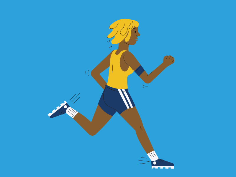 Runner - human pattern city metro andante porto person pattern icon flat illustration sport running