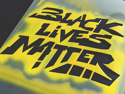 Black Lives Matter lettering spray paint graffiti stencil
