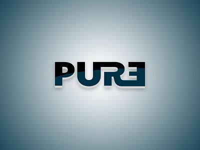 Pure typo brand pure concept logo
