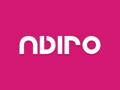 Adiro magenta typography concept logo wordmark