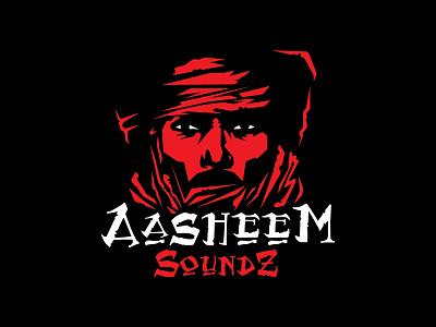 Aasheem Soundz africa red mark illustration concept logo