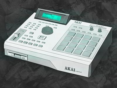 Akai MPC 2000 XL beatmaking mpc illustrator vector illustration