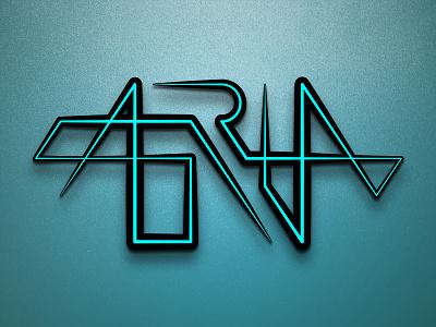 Aria blue logo mark wordmark aria