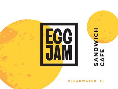 Eggjam Sandwich Cafe Branding corporate identity food custom type branding brand identity logotype logo