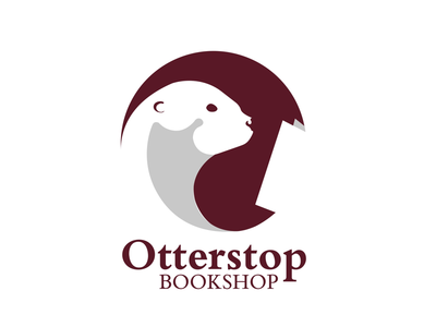 Otterstop branding illustrator adobe highbrow books student logo graphic design design