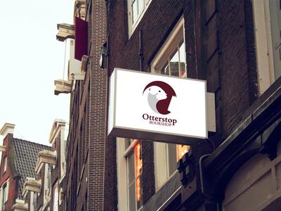 Otterstop Mockup bookstore student logo illustrator highbrow books graphic design design branding adobe