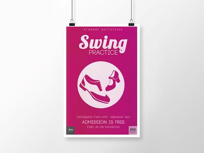 Swing Dance Poster graphic design illustrator adobe student paisley simple design poster byui print