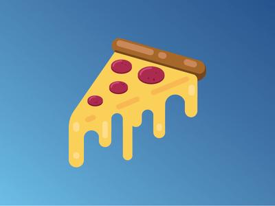 The 'Zza (Slice of Life) simple stroke vector illustrator eats pizza design graphic design