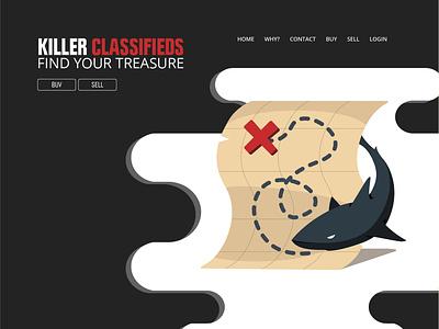Killer Classified Web Concept web design classifieds killer ux web illustration branding art logo byui student illustrator graphic design adobe design