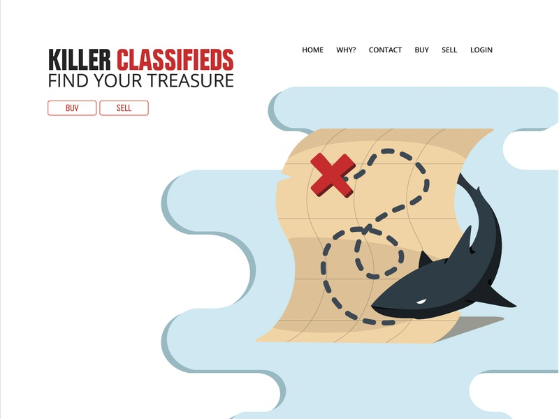 Killer Classified Web Concept Light webdesign web ux branding art logo byui student illustrator graphic design design adobe