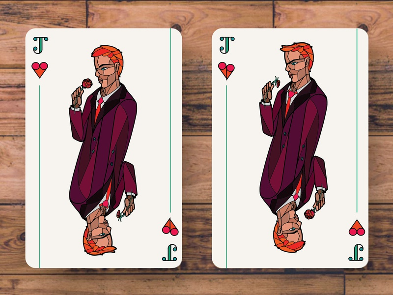 Jack of all Trades sharp complimentary analogous geometric playing cards face cards art illustrator graphic design design adobe