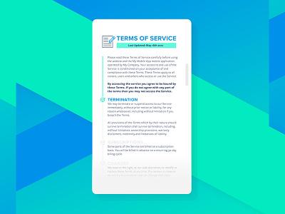 Daily UI No.89 daily design challenge terms of service ui design ui dailyui