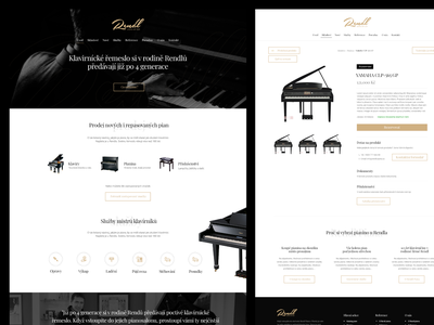 Rendl Piana webdesign flat website responsive design