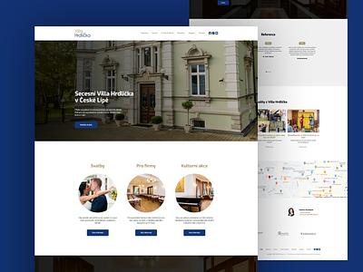 Villa Hrdlička webflow flat website responsive design webdesign webde