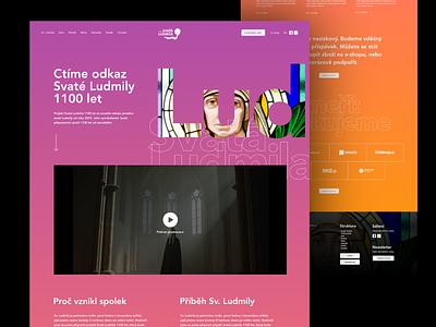 Svatá Ludmila webflow ui webdesign website responsive design