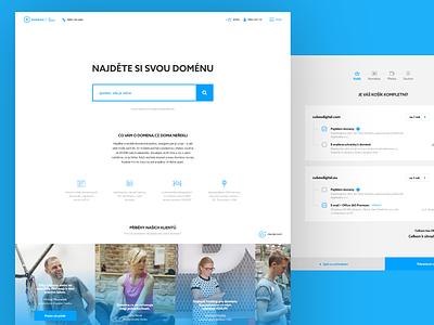 Domena.cz ui flat webdesign website responsive design