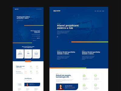 HG elektro webflow ux ui flat webdesign website responsive design