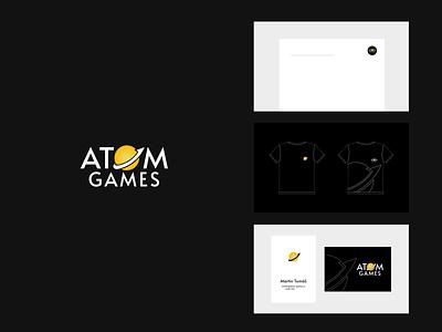 AtomGames CI branding design
