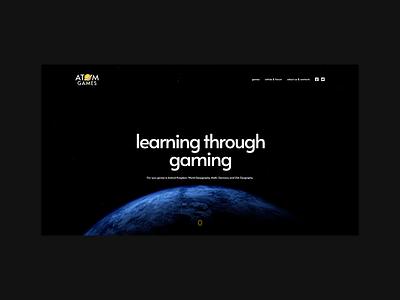 AtomGames webflow ui flat webdesign website responsive design