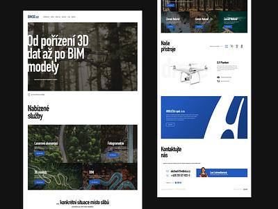 BIM3D.cz webflow video ux branding ui flat webdesign website responsive design