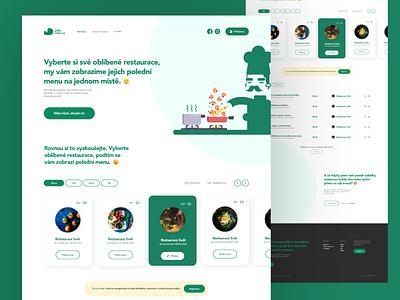 JídloDnes branding ui flat webdesign website responsive design