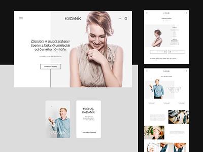 Michal Kadaník branding flat logo ui webdesign website responsive design