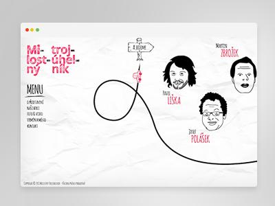 Milostný Trojuhelník website illustration
