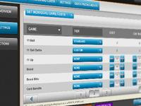Control Panel - Set Pricing per Game