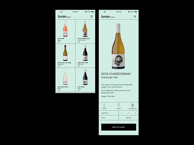 Turon wines product details ecommerce wine ui