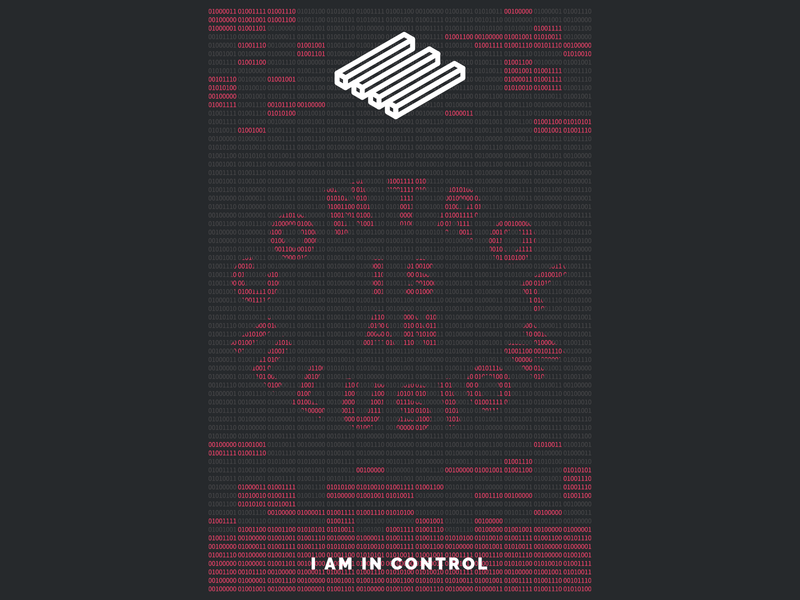 I AM IN CONTROL poster mr robot typography