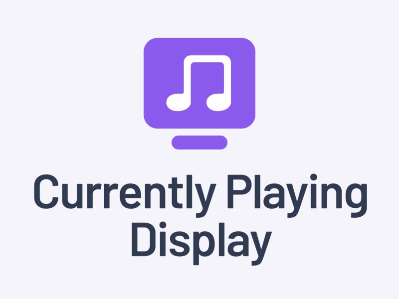 Currently Playing Display Logo branding icon illustration vector design purple typography logo