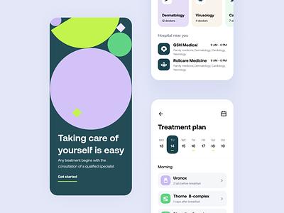 Medex - Mobile app geometry concept treatment healthcare mobile app ux design ui design