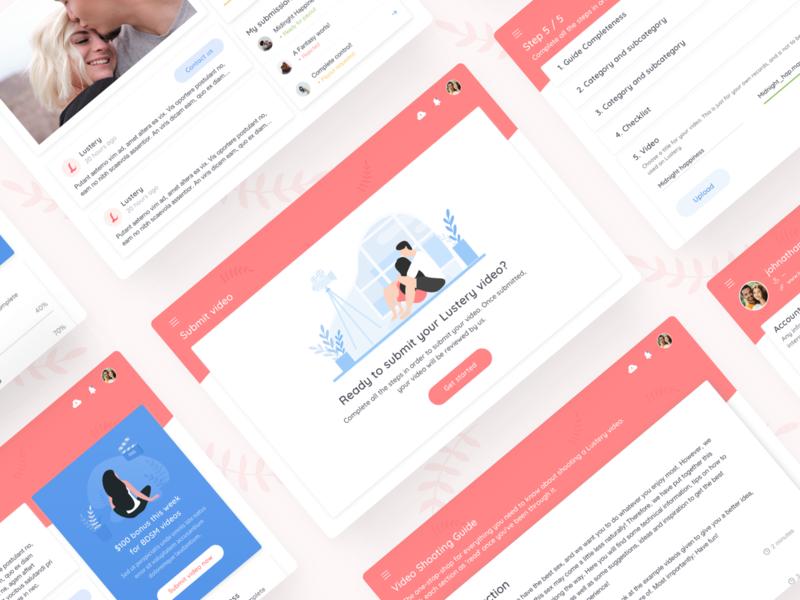 Lustery - Couple Hub admin panel illustration icon digital interface dating couple web redesign design ux ui