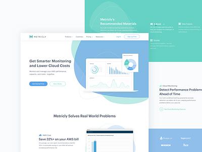 Metricly - Web Concept clean web illustration ux design ui deisgn