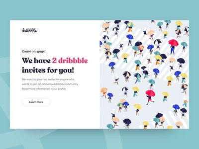 Dribbble invites - Web concept