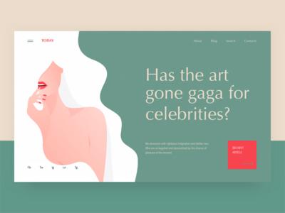 Today - Blog concept