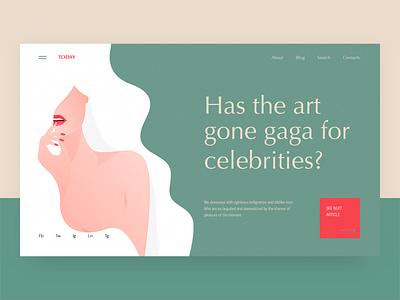 Today - Blog concept fashion arounda digital product interface web ux ui beauty woman illustration blog