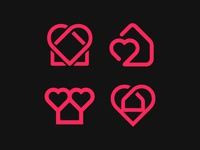 Heart + Heart Logos