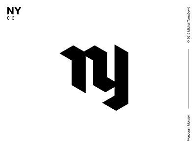 NY ny y n logo design letters logomark lettermark symbol typography logotype monogram mark logo