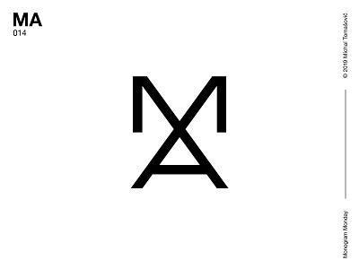 MA a m ma letters logomark lettermark logo design symbol typography logotype monogram mark logo