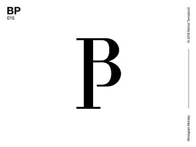 BP p b bp logomark letters lettermark logo design symbol typography logotype monogram mark logo