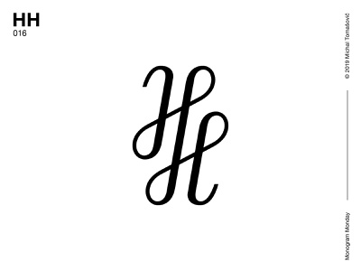 HH hh h logomark lettermark logo design letters symbol typography logotype monogram mark logo