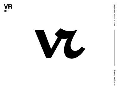 VR r v vr logomark letters lettermark logo design symbol typography logotype monogram mark logo
