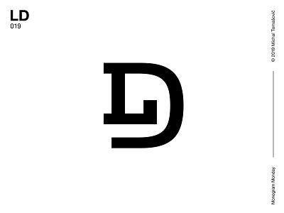 LD d l ld logomark letters lettermark logo design symbol typography logotype monogram mark logo