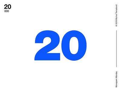 20 Monograms — 2019 behance letters lettermark logo design symbol typography logotype monogram mark logo