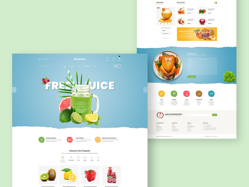 Fruits & Organic Food Store - Shopify Theme website development fruit shop food store themeforest website design prestashop shopify store web design prestashop theme shopify theme shopify shopify template dropshipping