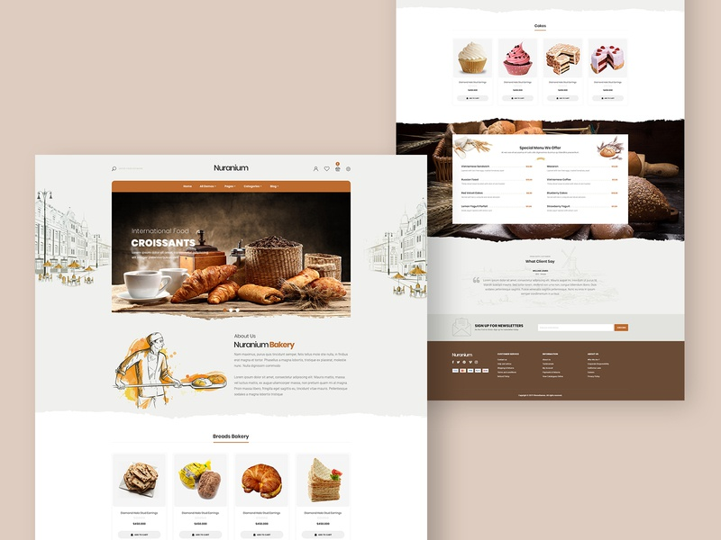 Bakery & Cake Shop - Shopify Theme bread website development cake shop bakery shop design prestashop website design web design shopify store prestashop theme shopify theme shopify template shopify dropshipping