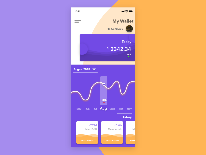 My Wallet wallet app minimal illustration vector ui ux moments graphic design graphic design clean app design